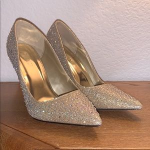 Venus Gold Jeweled Heels